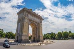 Триумфальный свод в Бухаресте, Румынии стоковая фотография rf