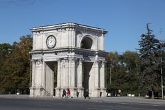 Триумфальный свод, Kishinev Chisinau Молдавия Стоковые Фото