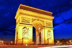 Триумфальная Арка в Париже. Франция Стоковое фото RF