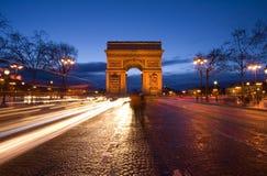 Триумфальная Арка в Париже Стоковая Фотография RF