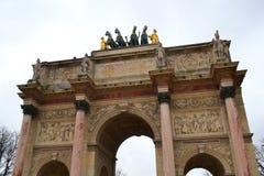 Триумфальная Арка du Caroussel, Париж стоковые изображения