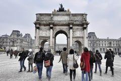 Триумфальная Арка du Carrouse стоковые изображения rf
