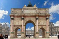 Триумфальная Арка du Carrousel Стоковая Фотография RF