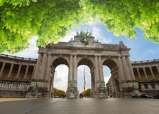 Триумфальный свод в Брюсселе Стоковое фото RF