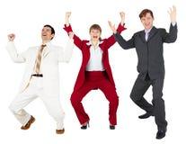 триумф команды бизнесменов счастливый Стоковое Фото