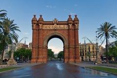 триумф barcelona Испании дуги Стоковые Изображения RF