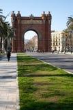 триумф barcelona s дуги Стоковая Фотография
