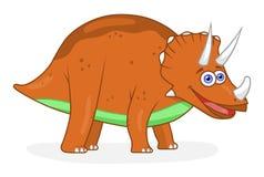 Трицератопс динозавра шаржа Стоковое Изображение RF