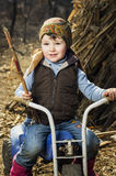 трицикл девушки Стоковое фото RF