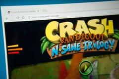 Трилогия n Bandicoot аварии здравая Стоковое Фото