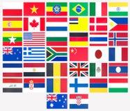 Тридцать восемь флагов стран Стоковое фото RF