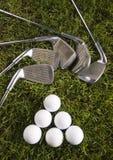 тройник гольфа клуба шарика стоковые изображения rf