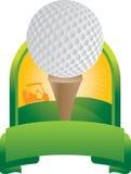 тройник гольфа шарика иллюстрация штока