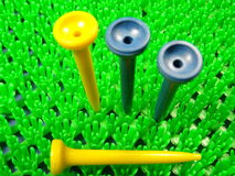 тройник гольфа клуба шарика Стоковое Изображение
