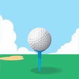 тройник путя гольфа клиппирования шарика изолированный изображением Стоковая Фотография RF