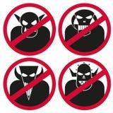 Тролль Sign_no Стоковая Фотография