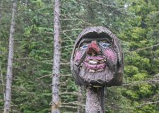 Тролля высекли наше древесины Стоковые Изображения RF