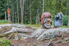 Тролля высекли наше древесины Стоковое Фото