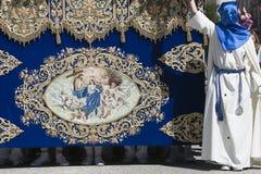 Трон девой марии или вызванного palio стоковая фотография