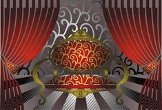 трон иллюстрации Стоковое Изображение