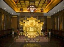 трон комнаты s императора Стоковое фото RF