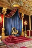 Трон Наполеона, Фонтенбло, Франции стоковое фото