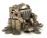 Трон сделанный монеток Стоковые Изображения RF