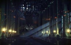 Трон Hall Стоковое Фото