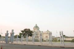 Трон Hall Ananta Samakhom в тайском королевском дворце Dusit, Бангкок, Стоковые Фотографии RF