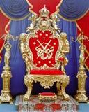 трон tsar Стоковое Фото
