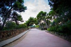Тропа в Барселоне стоковые фотографии rf