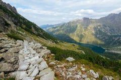 Тропа в высоком Tatra Стоковое Изображение RF