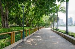 Тропа в общественном парке Бангкока, Таиланда Стоковое Изображение RF