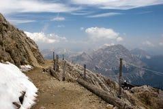 Тропа на горе Стоковое Изображение