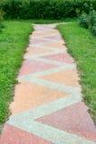 Тропа от плитки цвета Стоковая Фотография