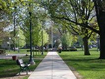 тропа парка города стоковая фотография rf
