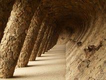 тропа парка g ell barcelona colonnaded Стоковое фото RF