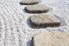 Тропа природы сада каменная Стоковое Фото