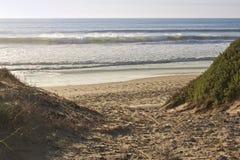 тропа пляжа песочная к Стоковые Изображения