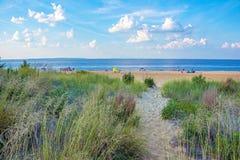 Тропа пляжа Keansburg Стоковые Фото