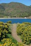 Тропа среднеземноморская Франция Пиренеи Orientales стоковое изображение