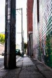 Тропа тротуара граффити стоковая фотография rf