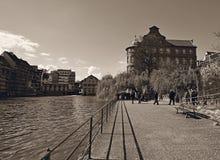 Тропа L'ill реки в страсбурге стоковое фото