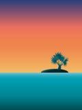 тропик захода солнца Стоковая Фотография RF