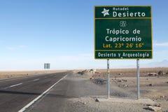 Тропик козерога, Чили Стоковые Фотографии RF