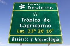Тропик козерога, Чили Стоковые Изображения RF