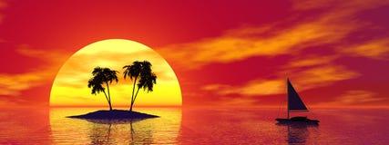 тропик острова иллюстрация штока