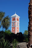 Тропическая башня с часами Стоковые Изображения