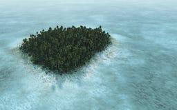 Тропическая большая возвышенность острова бесплатная иллюстрация