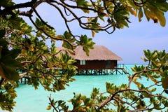 Тропическая вилла воды в Мальдивах Стоковое Изображение RF